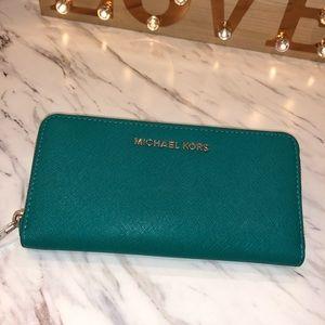 Turquoise Michael Kors Wallet